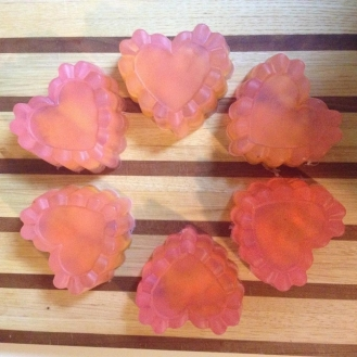 Almond Rose Petal Soaps from AMODERNCINDERELLA.COM
