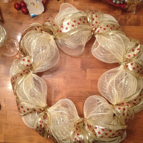 Christmas Wreath from AMODERNCINDERELLA.COM