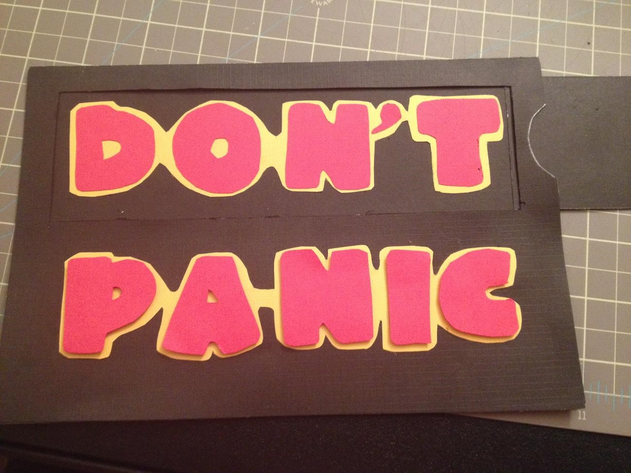 Don't Panic Birthday Card from AMODERNCINDERELLA.COM