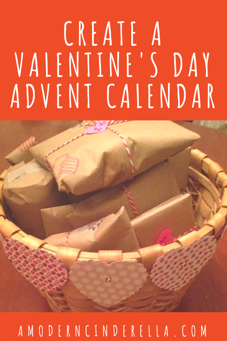Valentine's Day Advent Calendar from AMODERNCINDERELLA.COM
