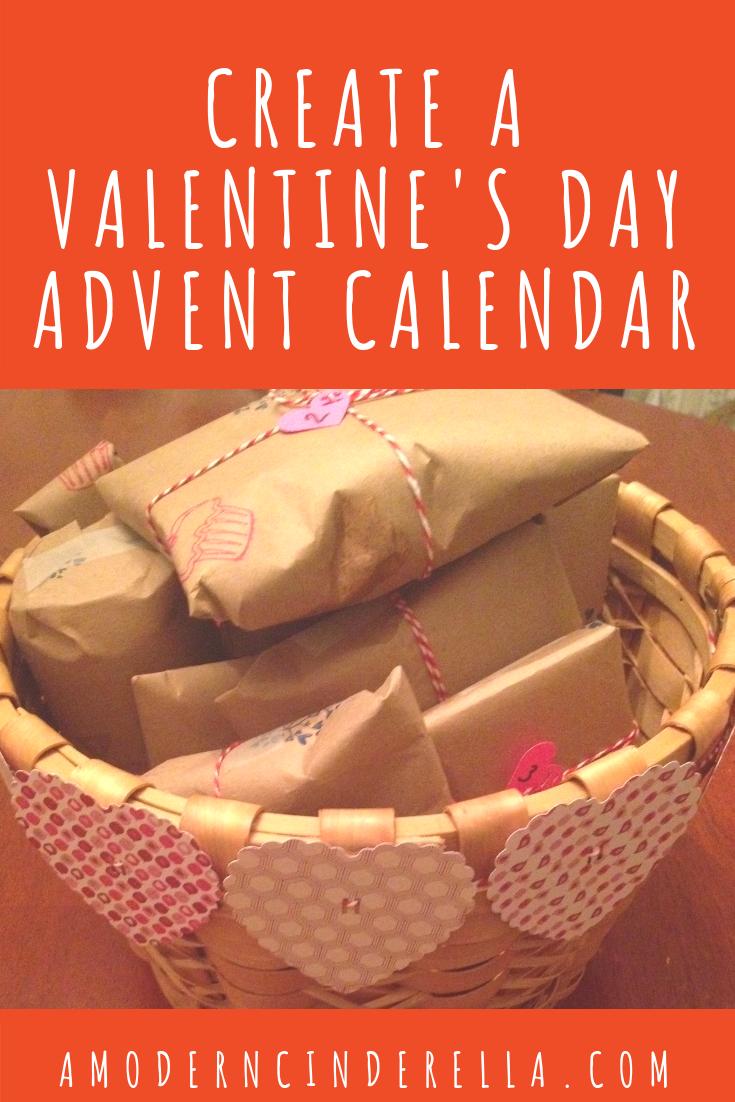 Valentine's Day Advent Calendar from AMODERNCINDERELLA.COM