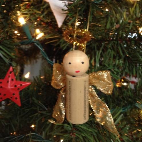 Wine Cork Angel Ornaments from AMODERNCINDERELLA.COM